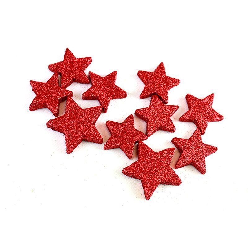 étoile pailletée rouge
