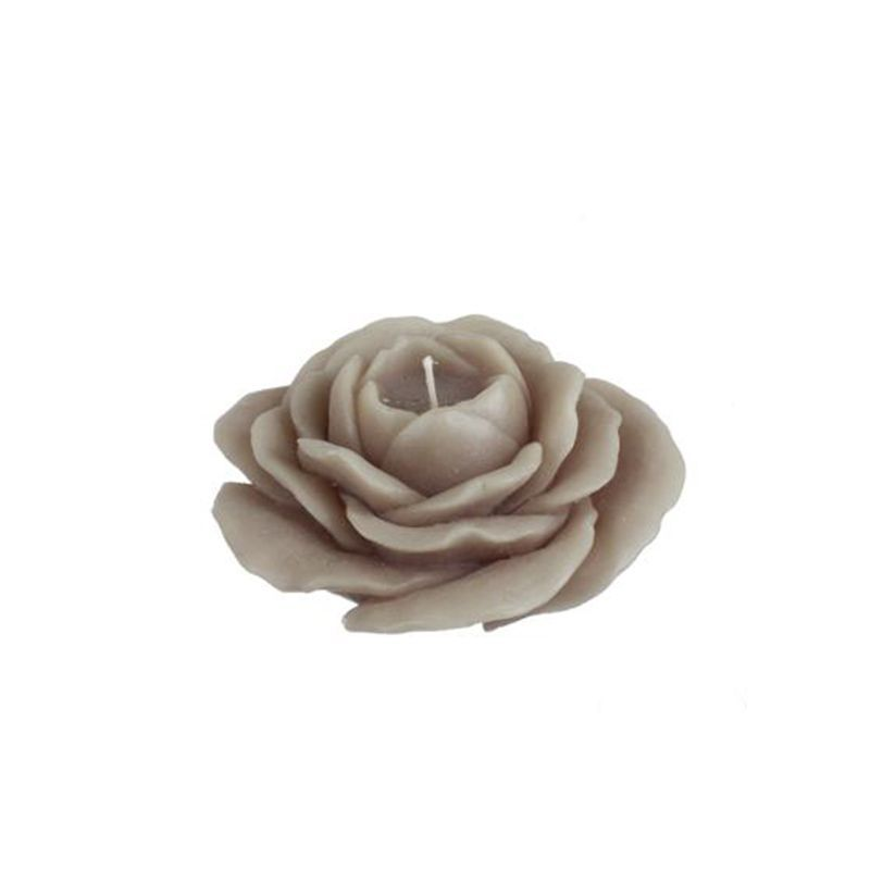 bougie forme rose taupe 11 cm