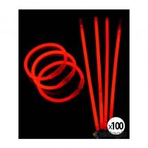 bracelet fluo rouge vendu par 100