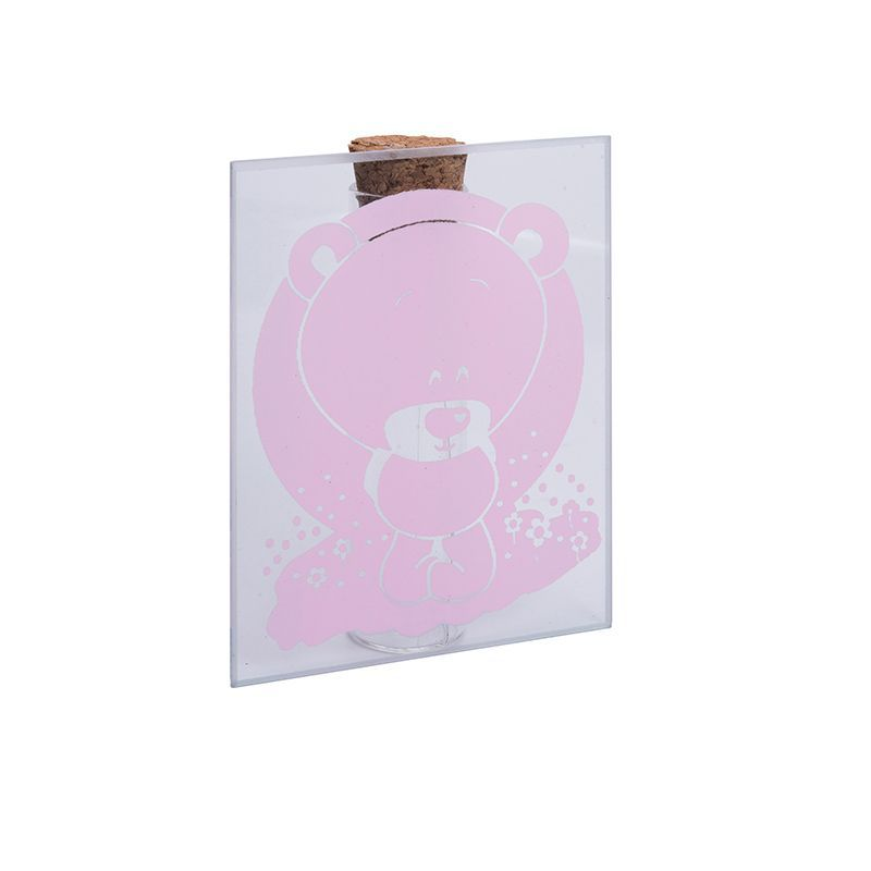 1 PORTE TUBE OURSON ROSE