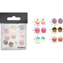 1 SACHET DE 24 CONFETTI DE TABLE CUPCAKE