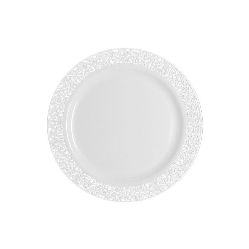 10 ASSIETTES LUXE 26CM BLANCHES