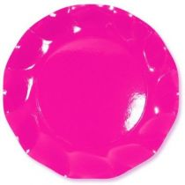 10 ASSIETTES PLATES 27CM - ROSE FLASHY