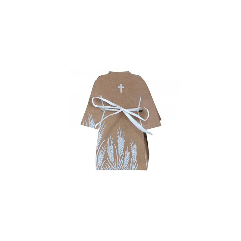 10 BOITES À DRAGÉES COMMUNION ROBE HAVAN