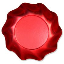 10 COUPELLES 18.5CM ROUGE SATINE