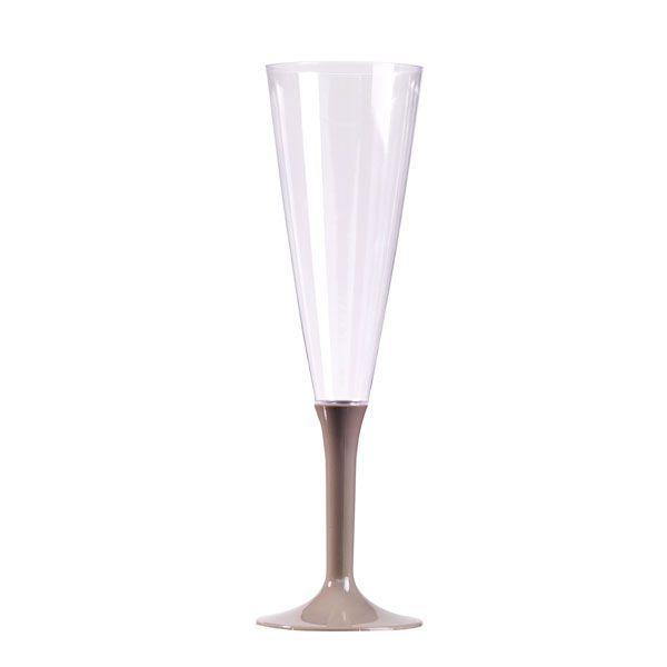 flûte à champagne plastique pied argent