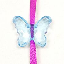 10 PAPILLONS CRISTAL - TURQUOISE