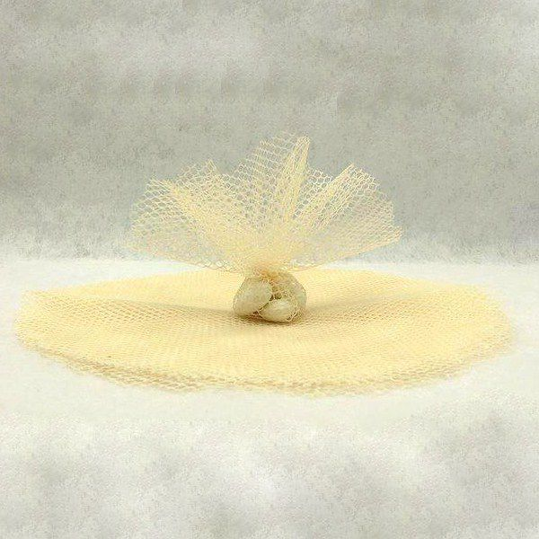10 RONDS TULLE FILET - IVOIRE