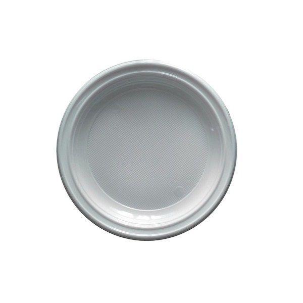 assiettes plastiques blanches