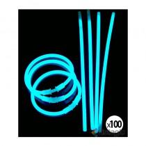 100 bracelets fluo et lumineux coloris turquoise