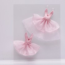 2 ROBES DE DANSEUSE ROSE 5X4,5CM