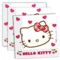 20 SERVIETTES 33X33 HELLO KITTY