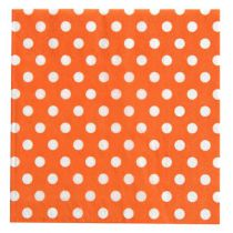 20 SERVIETTES À POIS - ORANGE
