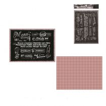 20 SETS DE TABLE EN PAPIER TYPE BISTROT