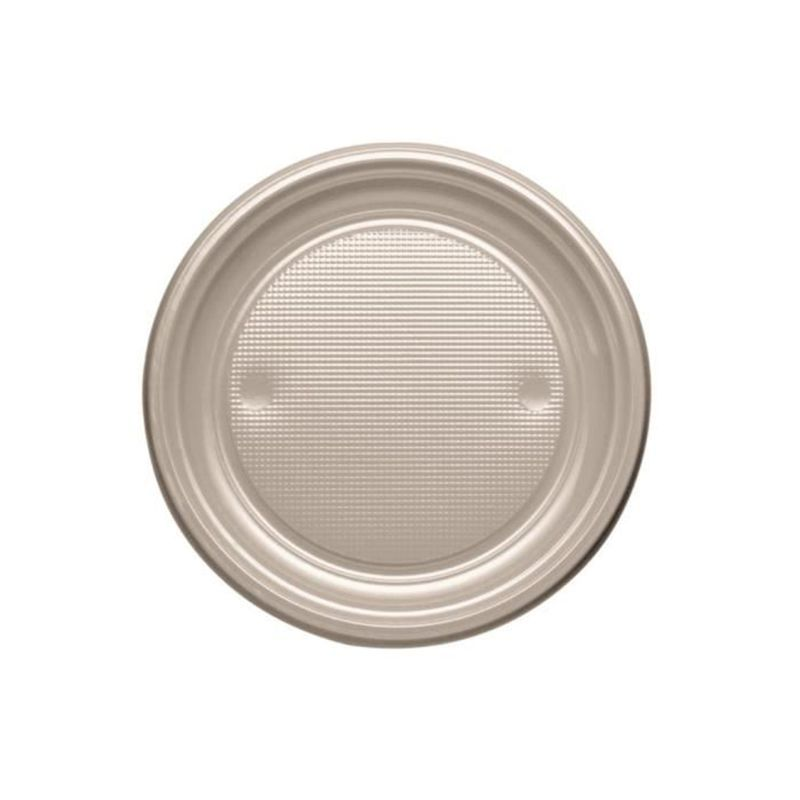 assiette jetable taupe
