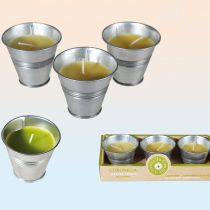 3 BOUGIES CITRONELLE POT EN ZINC