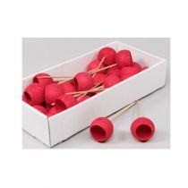 35 CLOCHES ROUGES MINI TIGE 20 CM