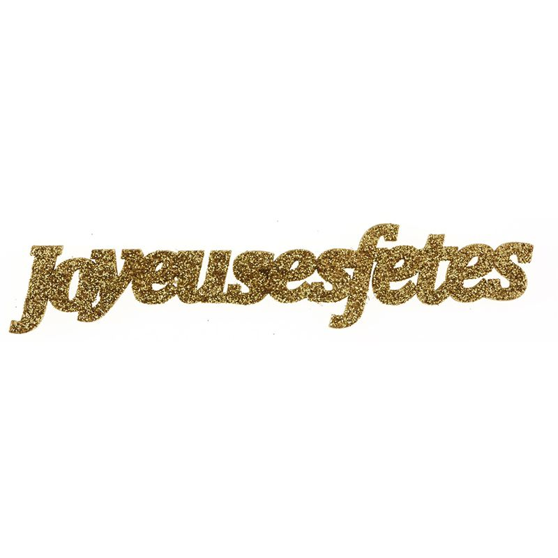 stickers joyeuses fêtes or
