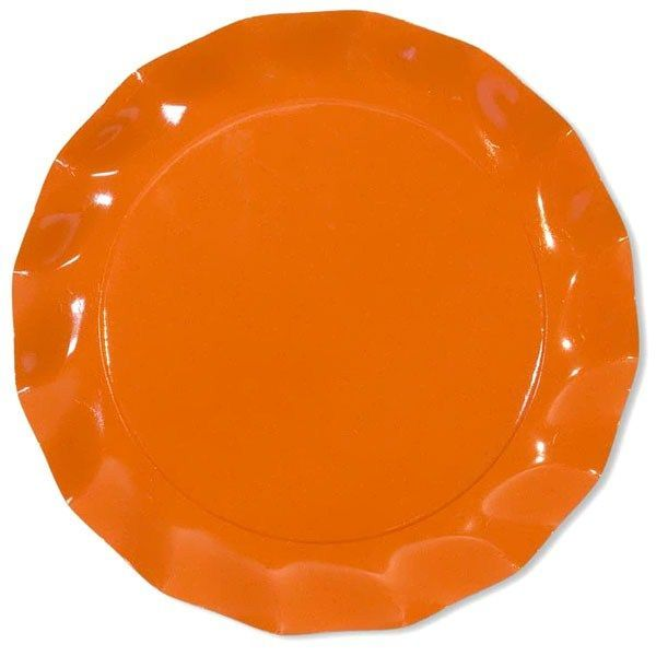 5 ASSIETTES 32.4CM - ORANGE