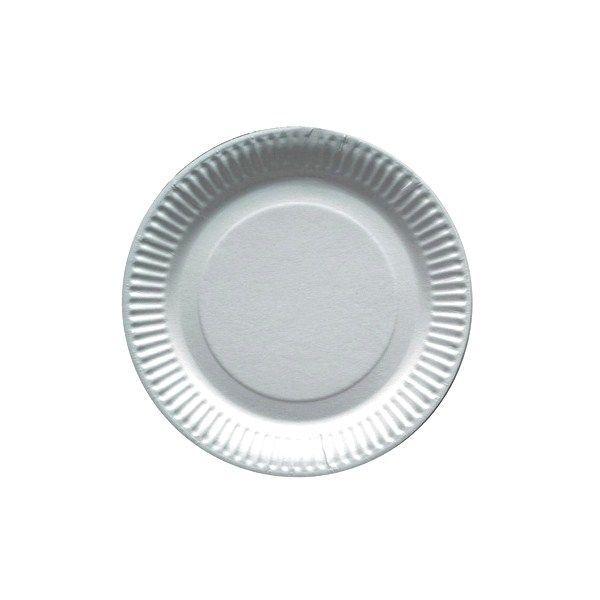 50 Assiettes carton blanc rondes 18 cm