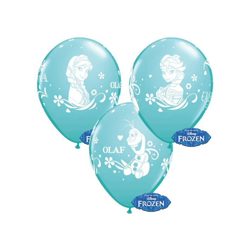 6 BALLONS LATEX FROZEN QUALATEX