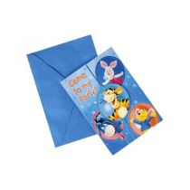 6 CARTES D\'INVITATION WINNIE