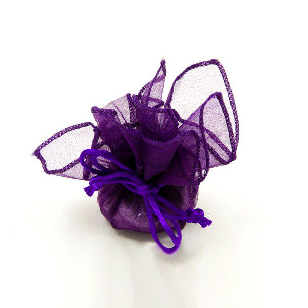 6 RONDS ORGANZA - PRUNE