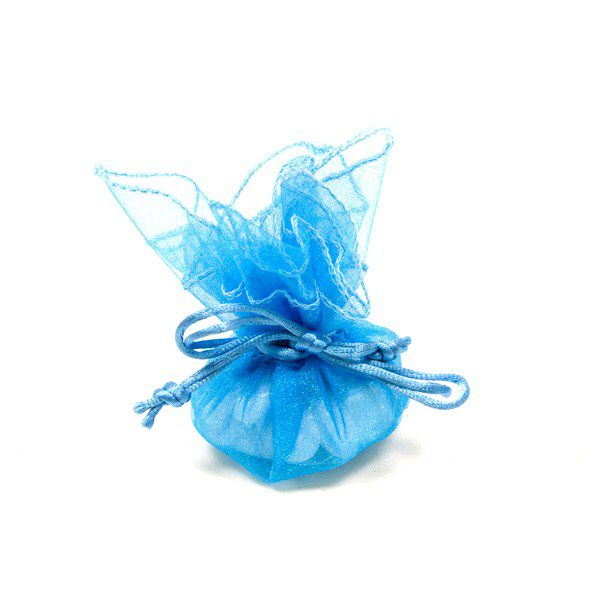 6 RONDS ORGANZA - TURQUOISE