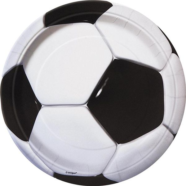 8 ASSIETTES  27 CM FOOTBALL