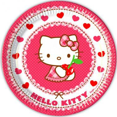 8 ASSIETTES 23 CM HELLO KITTY
