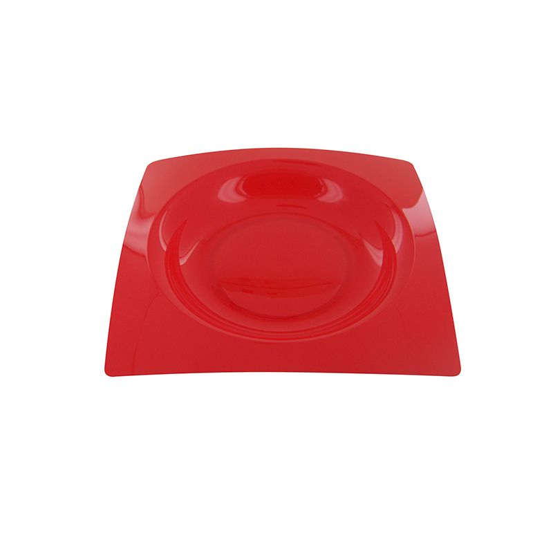 8 ASSIETTES FRENCHY DESIGN 20CM-ROUGE