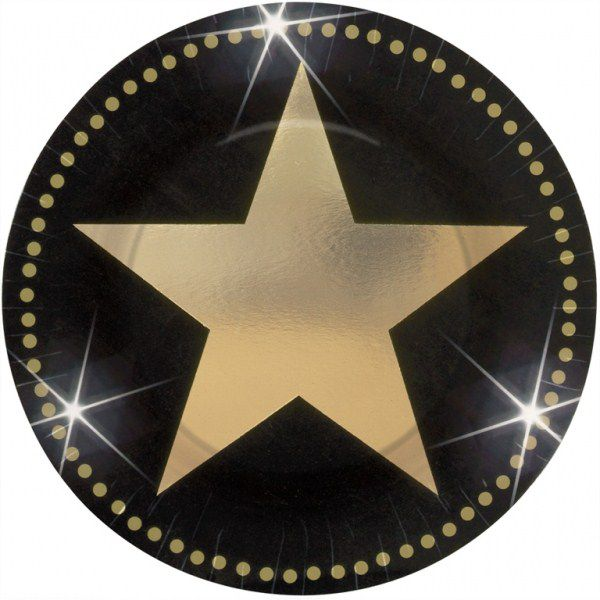 8 ASSIETTES STARS HOLLYWOOD JETABLES
