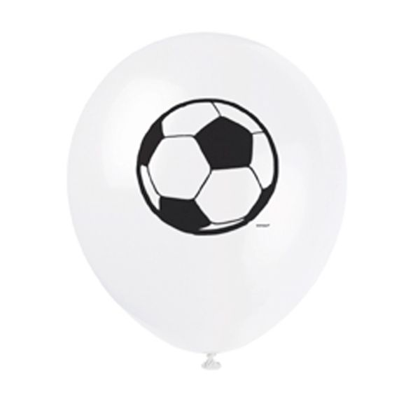 8 BALLONS EN LATEX FOOTBALL
