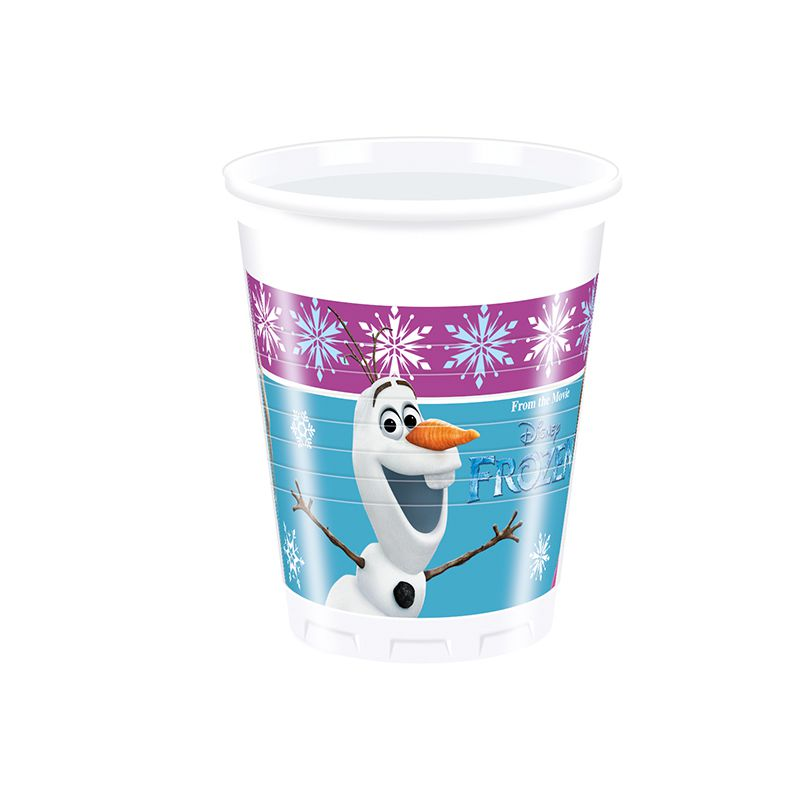 8 GOBELET 20CL REINE DES NEIGES LIGHTS