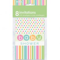 8 INVITATIONS BABY SHOWER