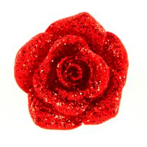 8 ROSES PAILLETÉES STICKER ROUGE
