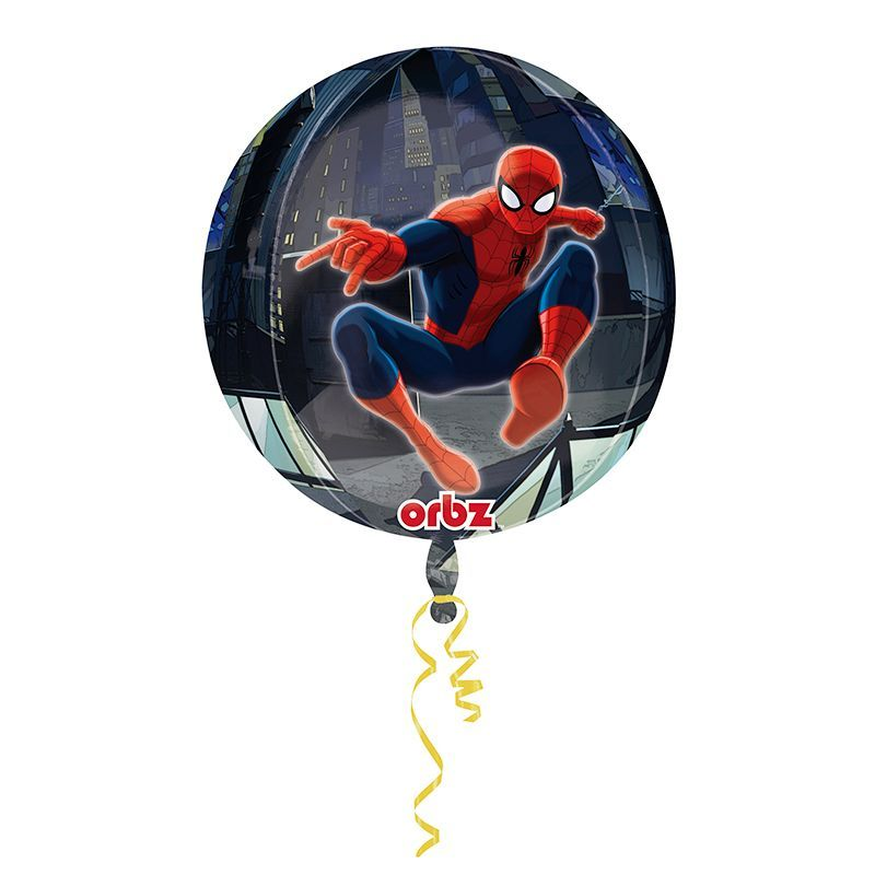 BALLON ALU ORBZ SPIDERMAN + HÉLIUM