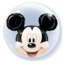 BALLON DOUBLE BULLE MICKEY + HÉLIUM