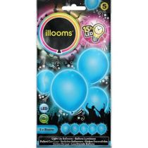 ballon latex led bleu