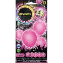 ballon latex led rose