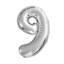 Ballon aluminium chiffre 9