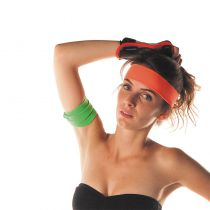 BANDEAU 80\'S ORANGE FLUO ADULTE