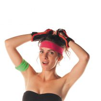 BANDEAU 80\'S ROSE FLUO ADULTE