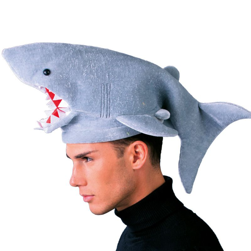 BONNET REQUIN PELUCHE ADULTE