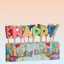 BOUGIES LETTRES HAPPY BIRTHDAY
