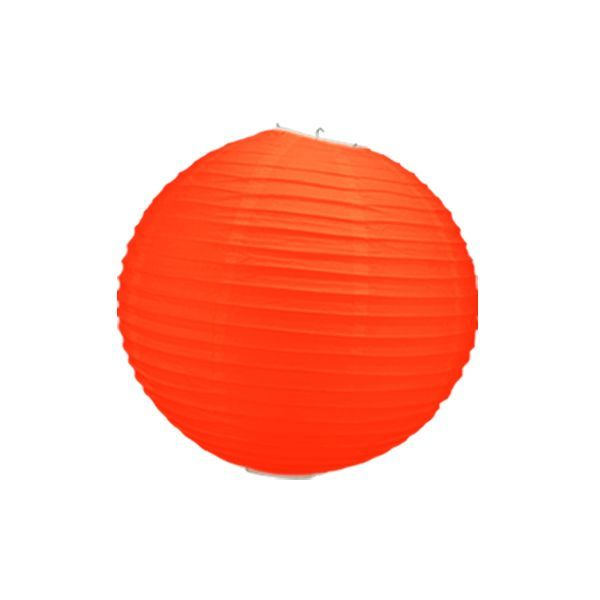boule chinoise orange corail 30 cm