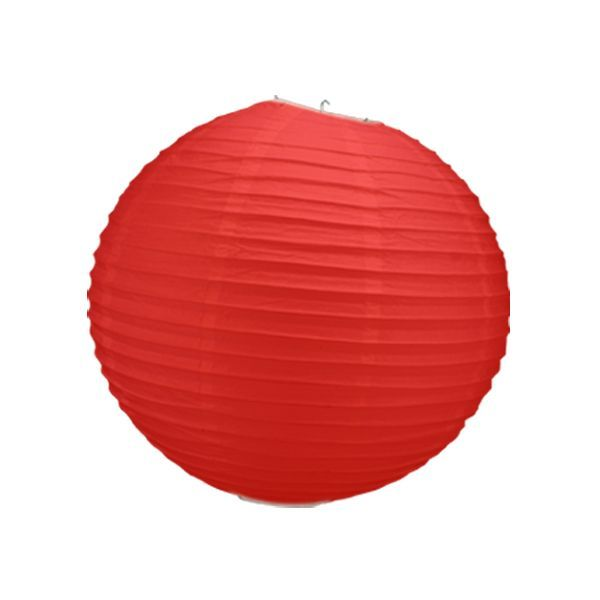 boule chinoise rouge 50 cm