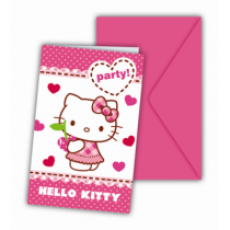 carte d'invitation hello kitty