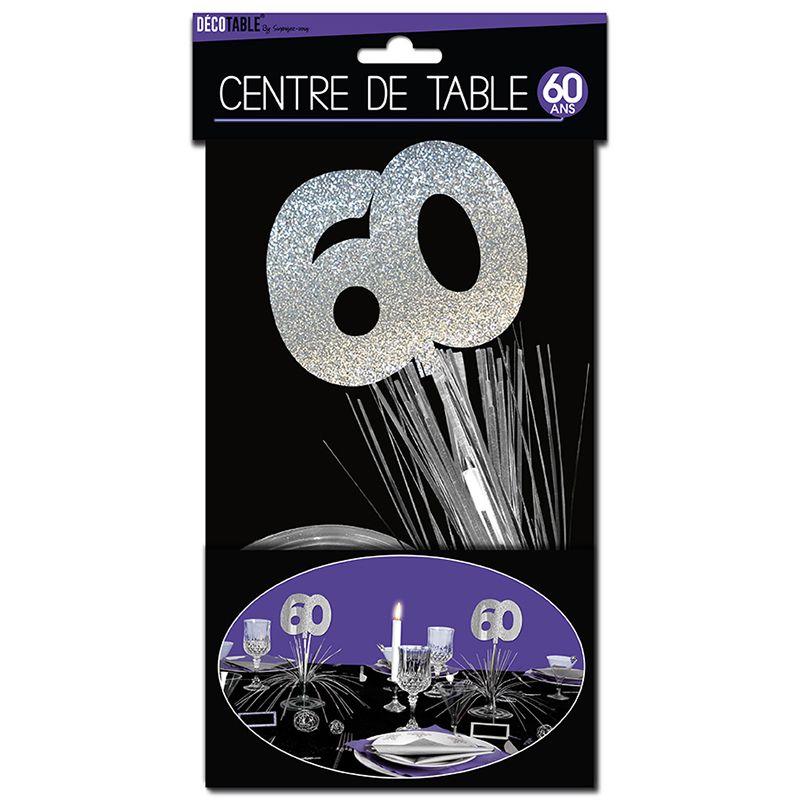 CENTRE DE TABLE 60 ANS