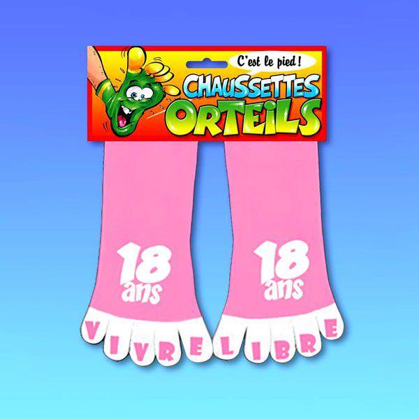 CHAUSSETTES ORTEILS 18 ANS ROSE